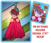 In The Hoop Elf Towel Holder Embroidery Machine Dessign