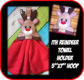 In the Hoo Reindeer Towel Holder Embroidery Machine Design