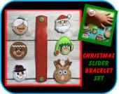 In The Hoop Christmas Slider Bracelet Embroidery Machine Design Set