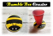 In the Hoop Bumble Bee  Coaster Embroidery Machine Design