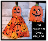 In the hoop Pumpkin Towel Holder Embroidery Machine Design