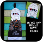 In The Hoop Mummy Towel Holder Embroidery Machine Design