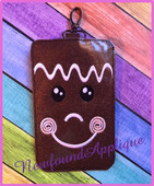 In The Hoop Gingerbread Phone Case Embroidery Machine Design