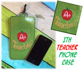 In The Hoop Teacher Apple Phone Case/Ipod Embroidery Machine Design