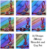 In the Hoop Allergy Bracelet and Tag Embroidery Machine Design Set