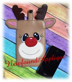 In The Hoop Reindeer Cell Phone Ipod Case Embroidery Machine Design