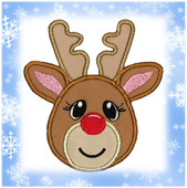 Reindeer Applique Embroidery machine Design