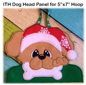 In The Hoop Dog Head Panel EMbroidery machine Design