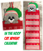 In The Hoop Advent Cat Calendar Embroidery Machine Design