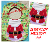 In the Hoop Santa Body Baby Bib Embroidery Machine Design