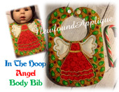 In The Hoop Angel Body Bib Embroidery Machine Design