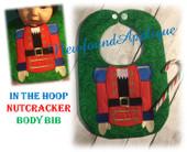 In The Hoop Nutcracker Bib Embroidery Machine Design