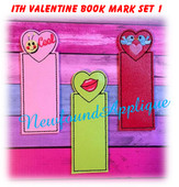In The Hoop Valentine Book Mark Set 1 Embroidery Machine Designs