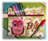 In The Hoop Owl Zipped Case Embroidery Machine Design