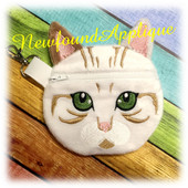In The Hoop Line Zipped Cat Case Embroidery Machin Design
