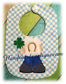 In The Hoop Boy St Patrick's Day Bib Embroidery Machine Design