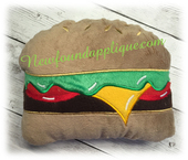 In The Hoop Hamburger Stuffy Embroidery Machine Design