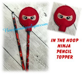 In The Hoop Ninja Pencil Topper Embroidery Machine Design