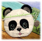 "In The Hoop Panda Zipped Case Embroidery Machine Design for 5""x7"" Hoop"