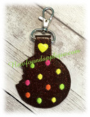 In The Hoop Key Fob Cookie with Candy Embroidery Machine Design