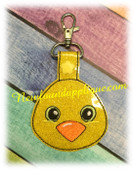 In The Hoop Chick Key Fob Embroidery Machine Design