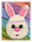 "In the Hoop Easter Bunny Zipped Case Embroidery Machine Design for 5""x7"" Hoops"