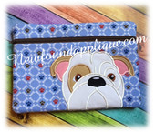 In The Hoop Bull Dog Zipped Case Embroidery Machine Design