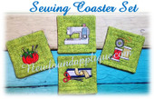 In the Hoop Sewing Coaster Embroidery machine Design Set