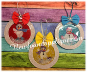 In The Hoop Skating Snowman Ornament Embroidery Machine Design Set