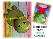 In The hoop Flat Turtle Coaster Embroidery Machine Design
