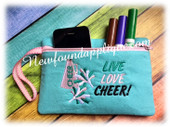 In The Hoop Cheer Zipped Case Embroidery Machine Design