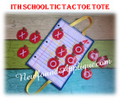 In The Hoop School Tic Tac Toe Embroidery Machine Design Set