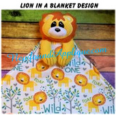 In The Hoop Lion In A Blanket Embroidery/Sewing Machine Design