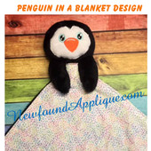 In The Hoop Penguin In A Blanket Embroidery/Sewing Machine Design