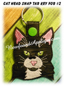 In the Hoop Cat Head Key Fob #2 Embroidery Machine Design