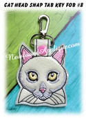 In the Hoop Cat Head Key Fob #8 Embroidery Machine Design