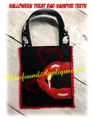 In the Hoop Halloween Treat Bag Vampire Mouth Embroidery Machine Design
