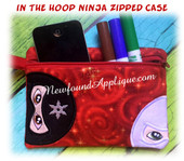 In the Hoop Ninja Zipped Pecil Case Embroidery Machine Design