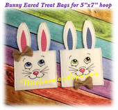 In The Hoop Bunny Eared Treat Bag Embroidery Machine Design