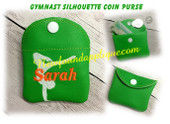 In The Hoop Gymnast Coin Purse Embroidery Machine Design