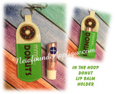 In The Hoop Donut Lip Balm Holder Embroidery Machine Design