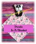 In the Hoop Panda In A Blanket EMbroidery Machine Design