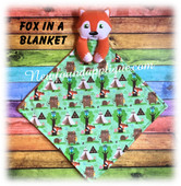 In The Hoop Fox In A Blanket Embroidery Machine Design