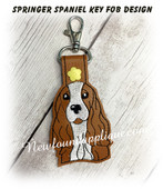 In The Hoop Springer Spaniel Dog Key Fob Embroidery Machine