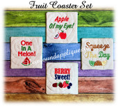 In The Hoop Fruit Coaster Embroidery Machine Design Set