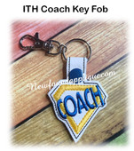 In The Hoop Coach Key Fob Embroidery Machine Design