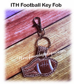 In The Hoop Football Key Fob EMbroidery Machine Design