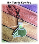 In The Hoop Tennis Ball Key Fob Embroidery Machine Design