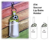 In The Hoop Soccer Ball Lip Balm Holder Embriodery Machine Design