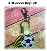 In the hoop Soccer Ball Lip Balm Holder EMbroidery Machine Design